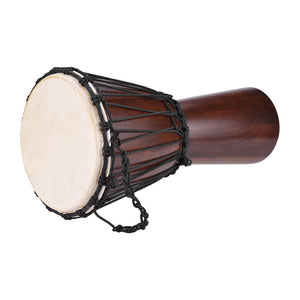"Professional 8"" African Djembe Hand Bongo Drum Percussion Music Instrument Select Hardwood Body Goatskin Head"