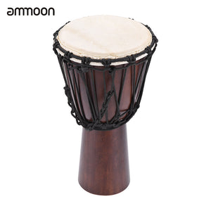 "ammoon Professional 8"" /10"" African  Drum Djembe Hand Bongo Drum Music  Percussion Instrument Select Hardwood Body Goatskin Head"
