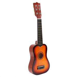 21 Inch Acoustic Guitar Small Size Portable Wooden Guitar for Children Kids Beginners