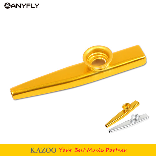 Free shipping High-end Metal Kazoo Instrument Ukulele Guitar Partner Sinye Kazoo Metal Harmonica Easy To Learn