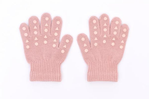 Gants en tricot - Dusty Rose