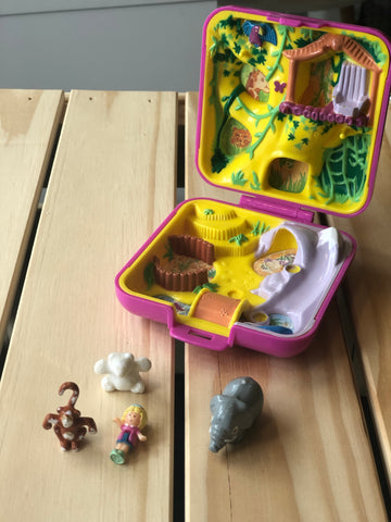 Coffret Polly Pocket Polly's Wild Zoo World, 1989