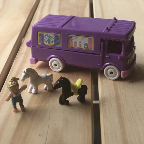 Coffret Polly Pocket Stable on the Go Horse Trailer, 1994