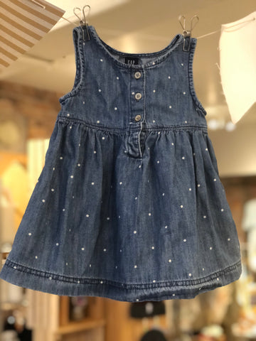 Robe en denim à pois Gap Denim, 12-18 M