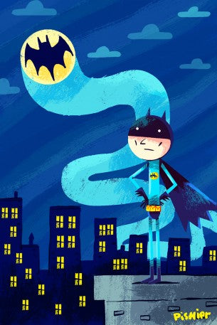 Illustration décorative encadrée Batman