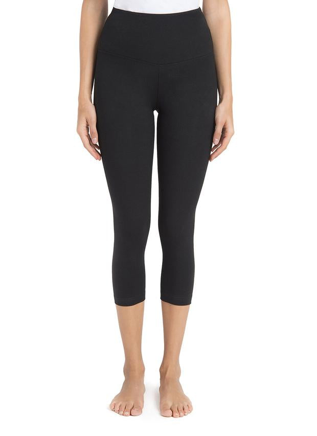 Basic Black Cotton Yoga Capri