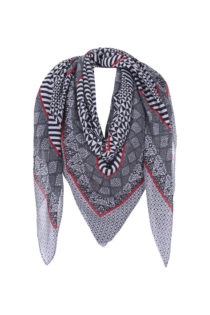 Scarf ~ Black/Red/White