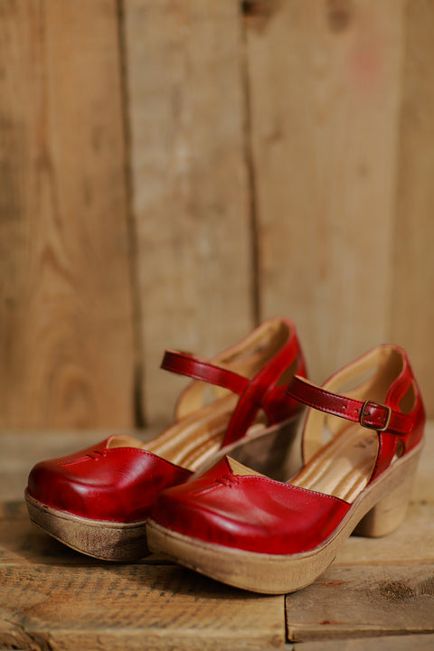 Mary Jane Sandal (Red) ~ 702