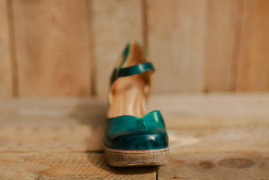 Mary Jane Sandal (Teal) ~ 702