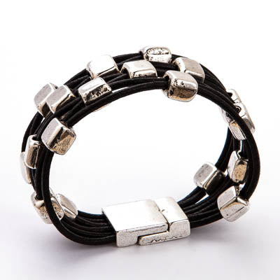 Leather Bracelet ~ MB487B