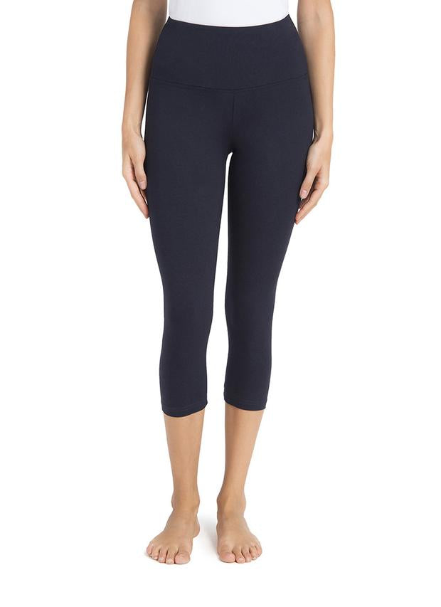 Basic Cotton Yoga Capri ~ Midnight