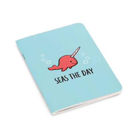 Seas The Day Aqua Notebook
