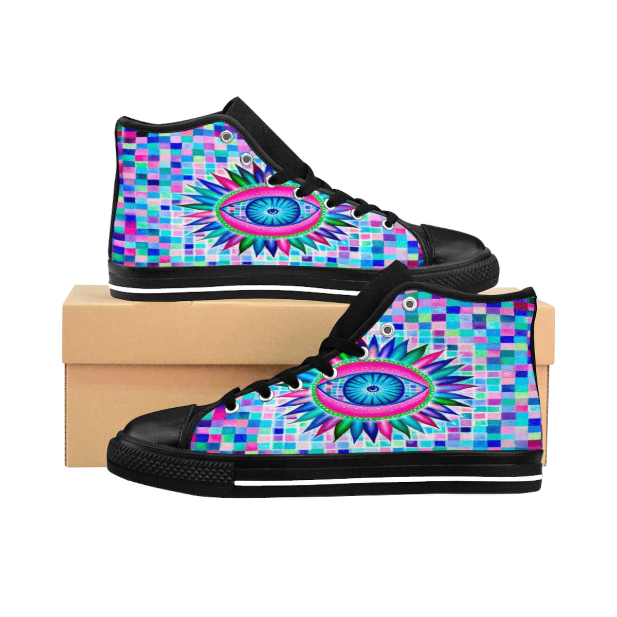 Fractal Eyes High-top Sneakers