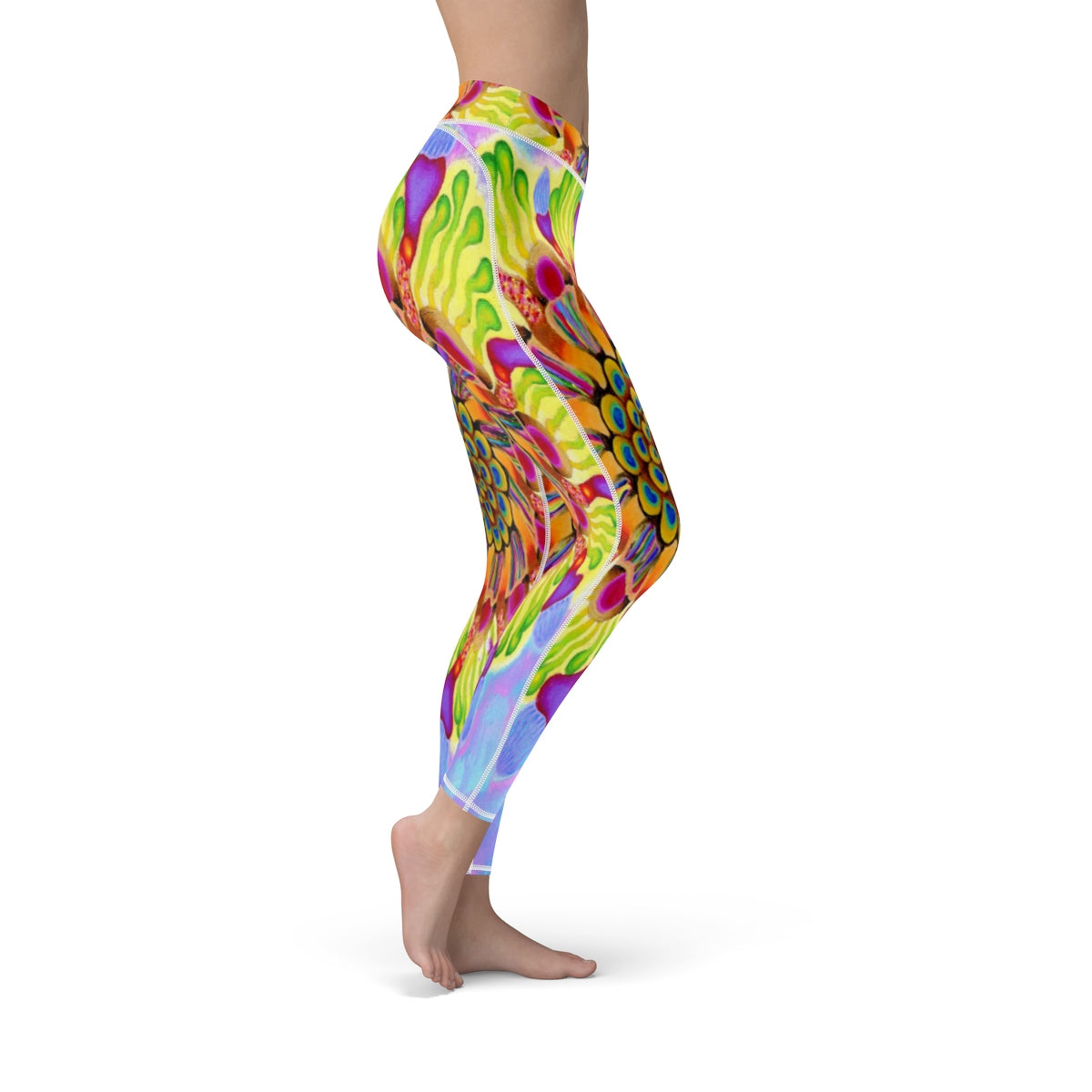 Popping Boba Cut Sew Sport Leggings Art By Ogus