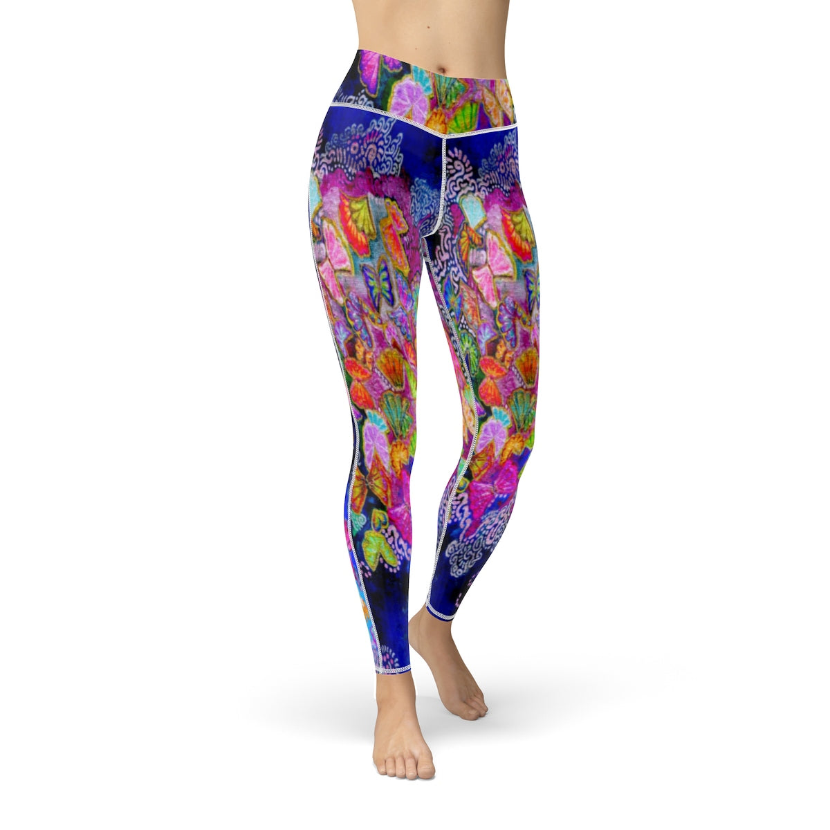 Butterfly Bloom Cut & Sew Sport Leggings