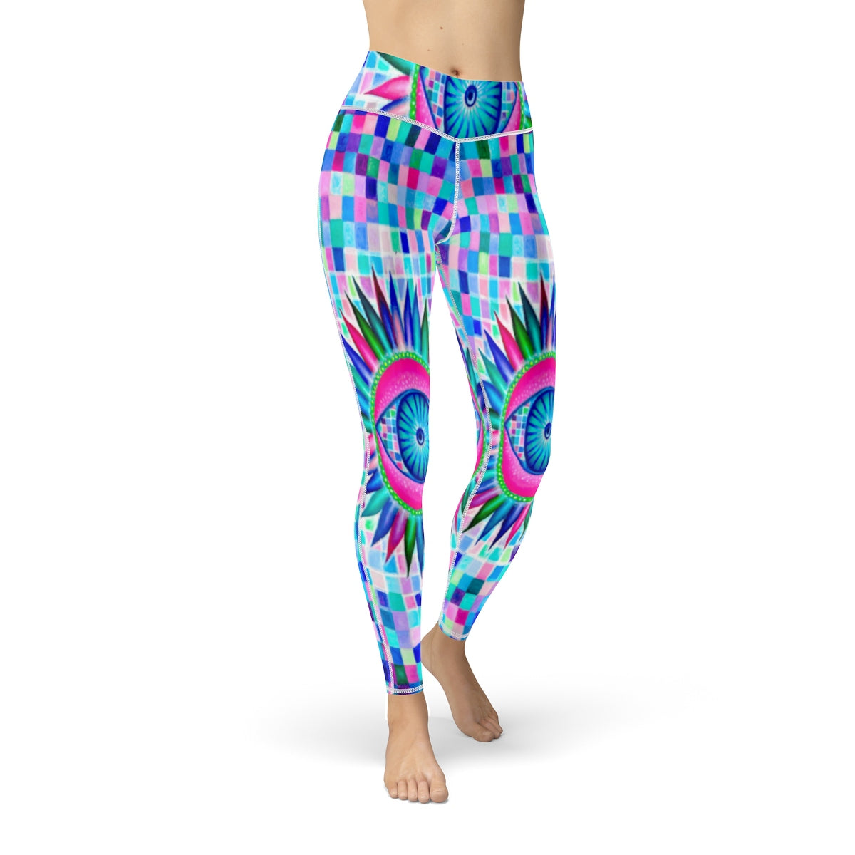 Fractal Eyes Cut & Sew Sport Leggings