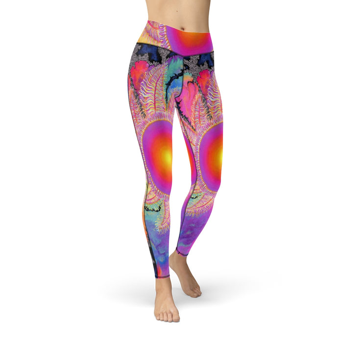Kaleidoscope Sun Cut & Sew Sport Leggings