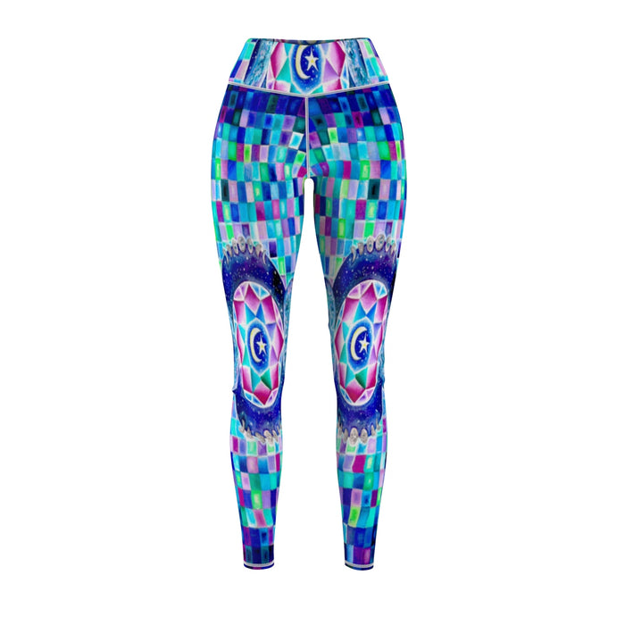 Crystal Eyes Cut & Sew Sport Leggings