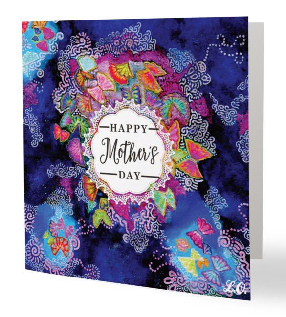 Butterfly Bloom Happy Mother's Day Card