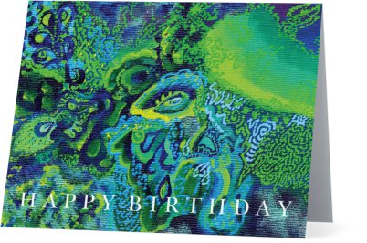 Emerald Kingdom Happy Birthday Card - Horizontal
