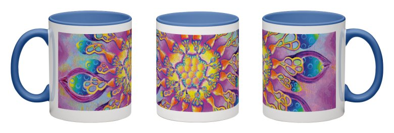 Flowerlicious Accent Mug - Blue Interior