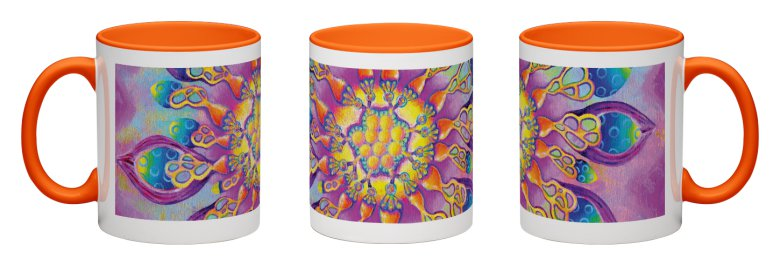Flowerlicious Accent Mug - Orange Interior