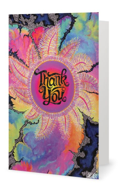 Kaleidoscope Sun Thank You Card