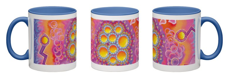 Magic Molecules Accent Mug - Blue Interior