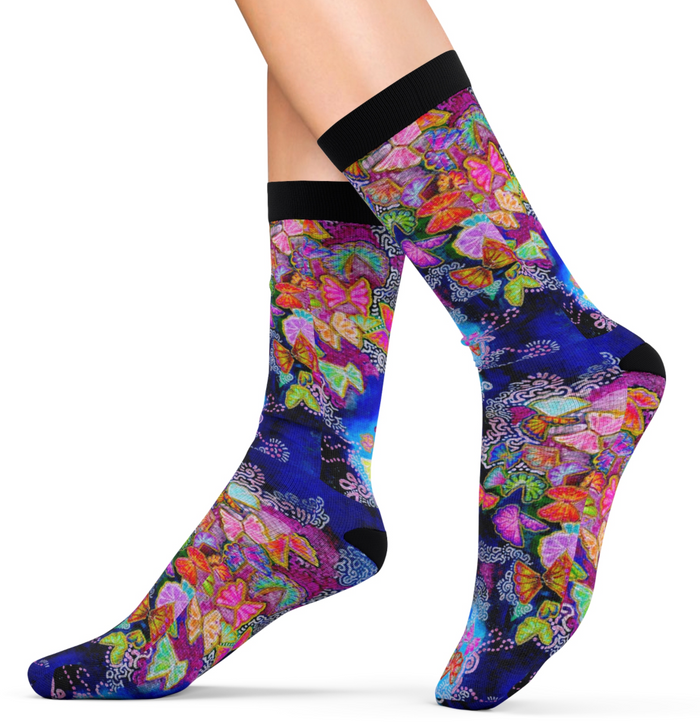 Butterfly Bloom Socks