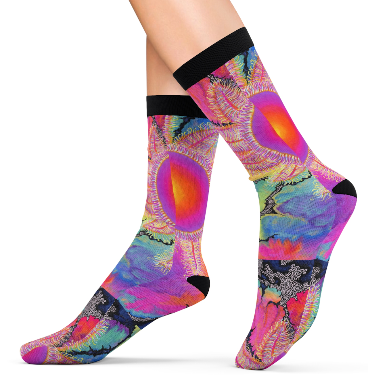Kaleidoscope Sun Socks