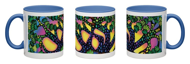 Treasure Tree Accent Mug - Blue Interior