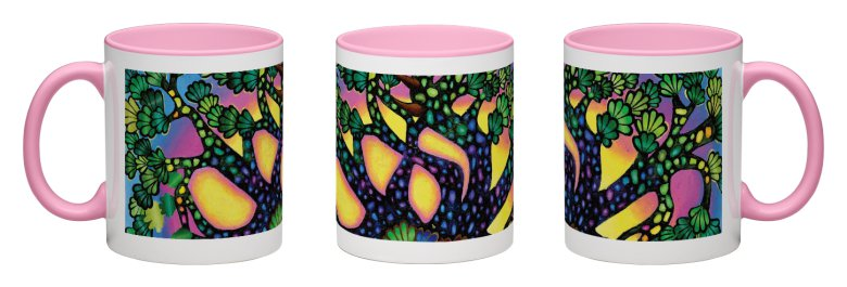Treasure Tree Accent Mug - Pink Interior