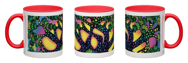 Treasure Tree Accent Mug - Red Interior