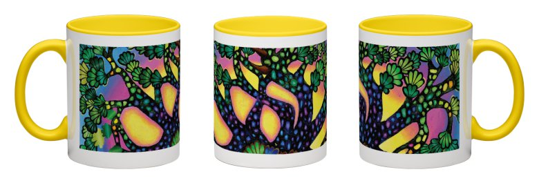 Treasure Tree Accent Mug - Yellow Interior