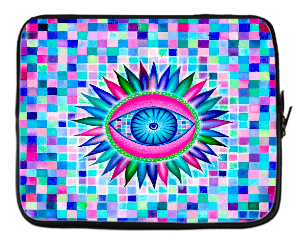 Fractal Eyes Laptop Sleeve