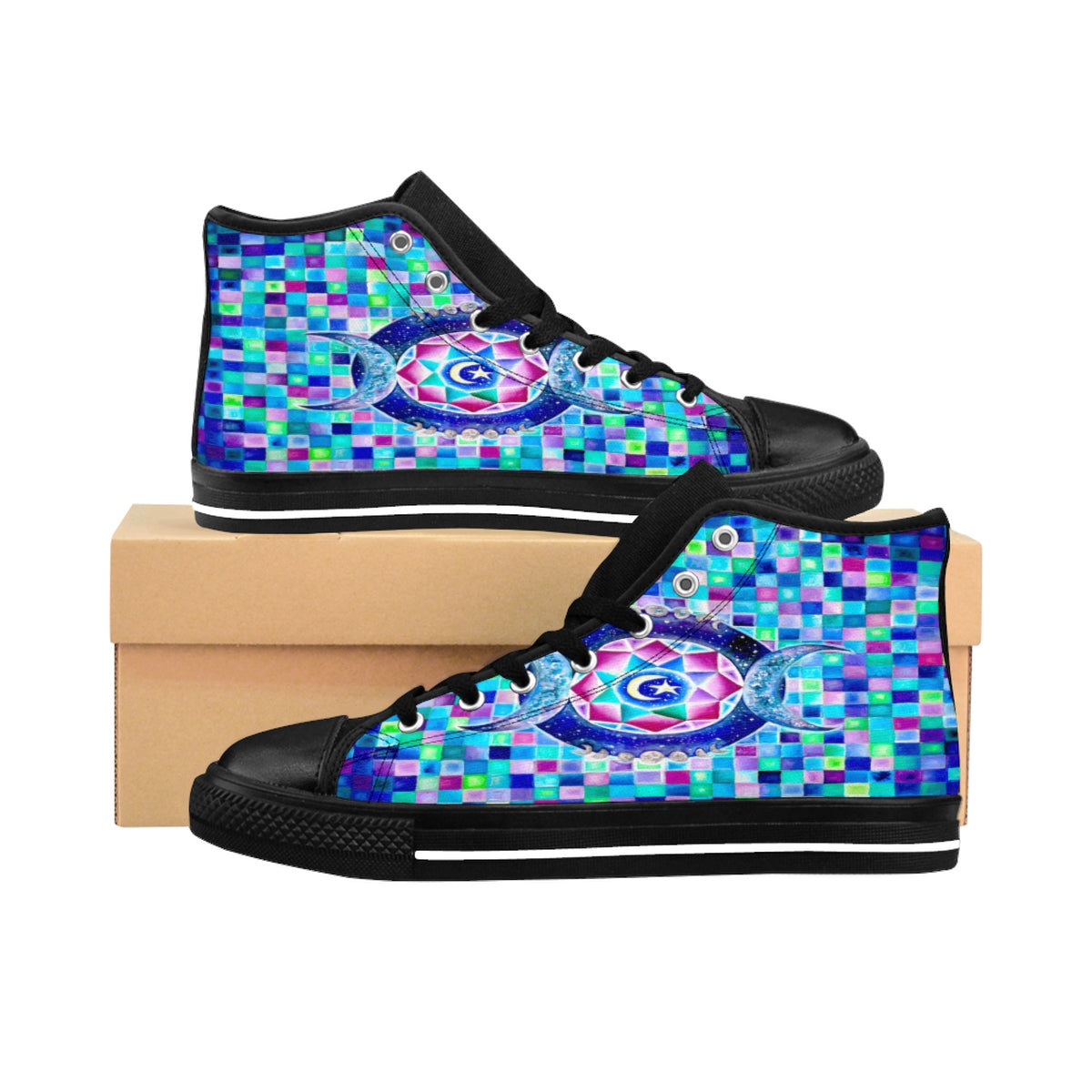 Crystal Moon High-top Sneakers