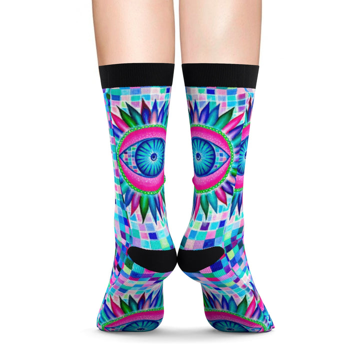 Fractal Eyes Socks