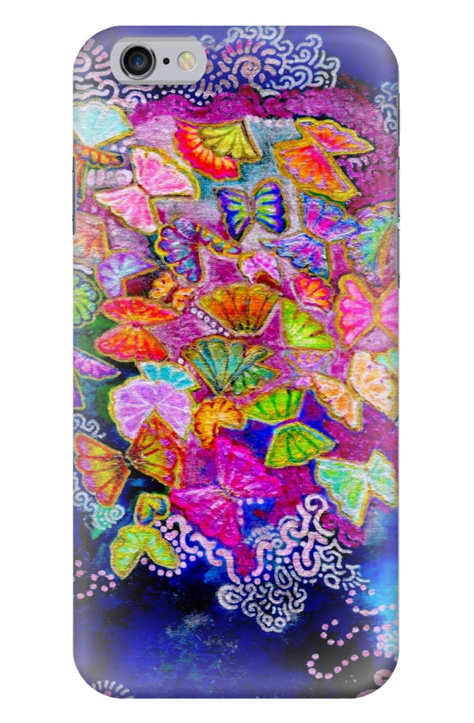 Butterfly Bloom iPhone Glossy Case