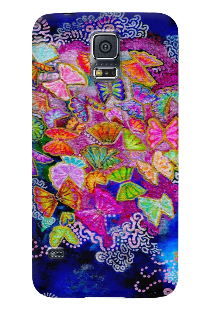 Butterfly Bloom Samsung Galaxy Glossy Case