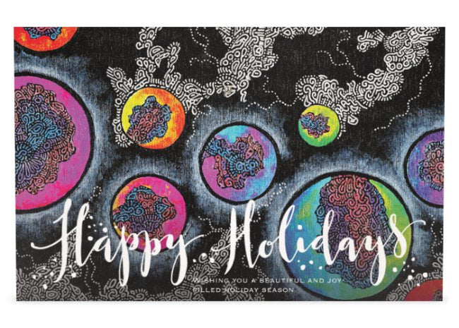 Marble Sky Flat Holiday Card