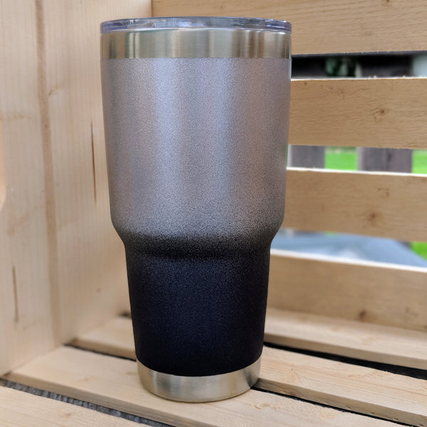 30 oz Powder Coated Stainless Steel Tumbler-Rose Gold and Plum Cast