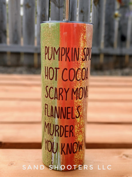 Fall Bucket List 20 oz skinny tumbler