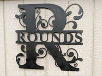 Monogram Vine metal sign