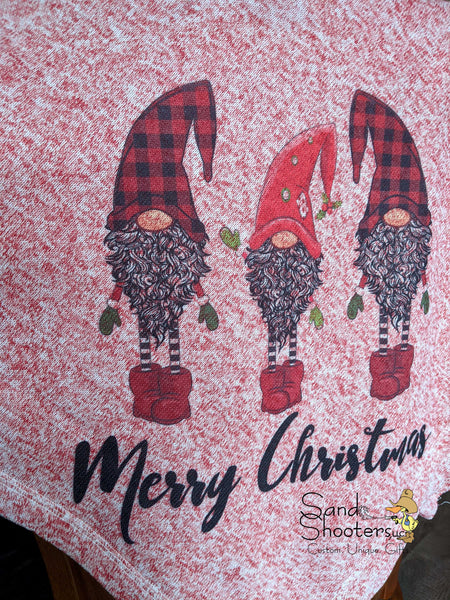 Merry Christmas Gnomes Sweater Throw