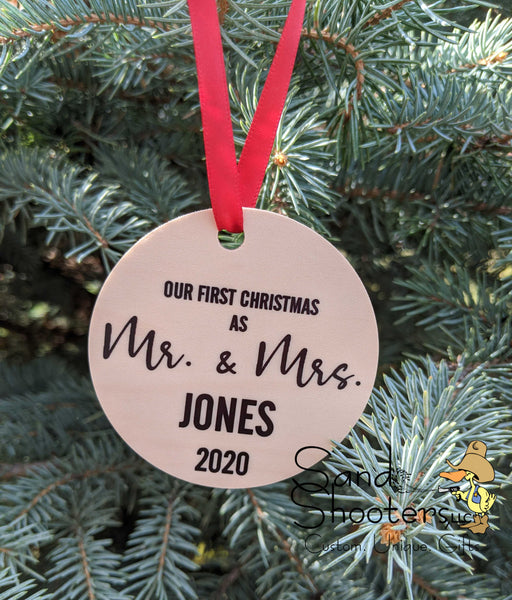Newlywed Christmas Ornament ~ I Have Found the One Whom My Soul Loves