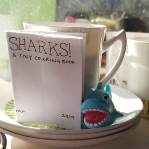 SHARKS! A Coloring Book
