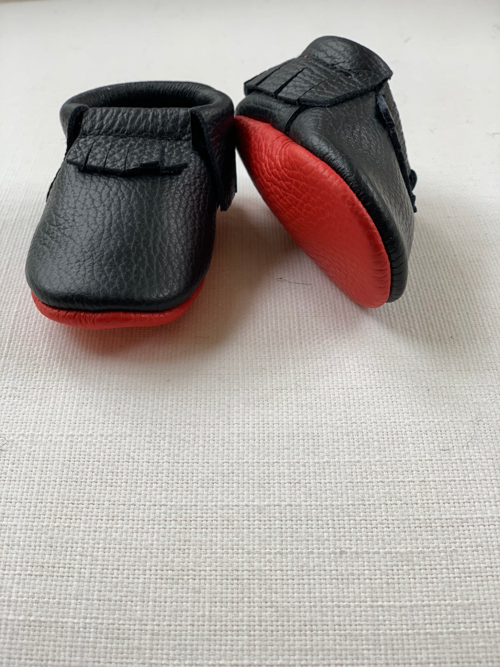Red Sole Bow Mocs
