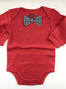 Red Bowtie Bodysuit