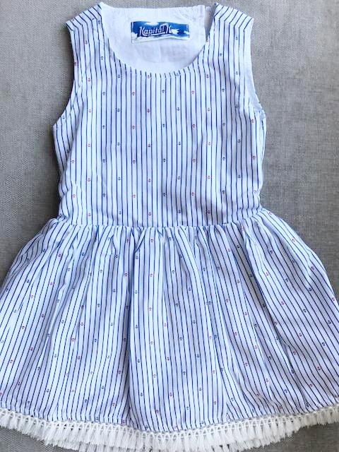 Anchor Stripe Open Back Dress