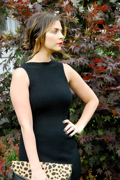 Bow Back Black Dress